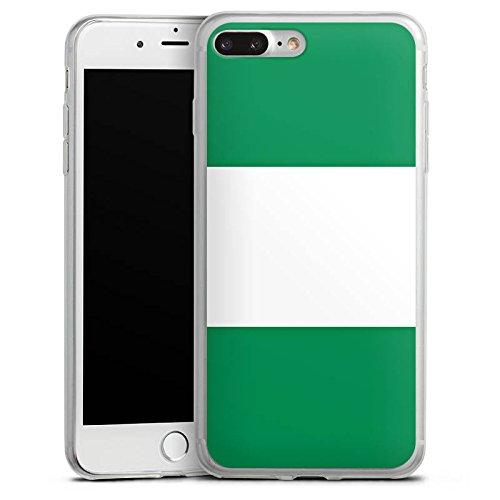 Apple iPhone 8 Plus Slim Case Silikon Hülle Schutzhülle Nigeria Flagge Fußball Silikon Slim Case transparent