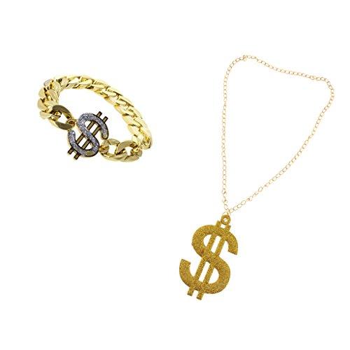 Party Armband Halskette Dollarzeichen Muster (Dollarzeichen Halskette)