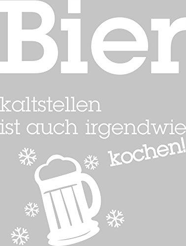 GRAZDesign 620460 Wandtattoo Küche Bier kaltstellen. | Sprüche und Zitate als Kühlschrank – Deko