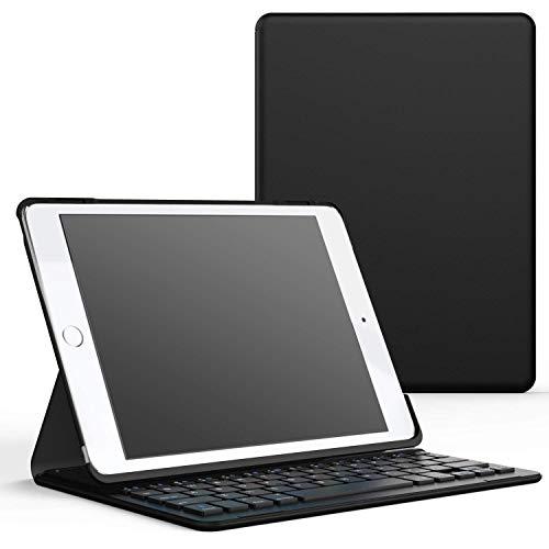 """MoKo Bluetooth Keyboard für iPad Pro 9.7 / iPad Air 2 - Drahtlose Wireless Bluetooth 3.0 Tastatur QWERTY-Layout Keyboard mit eingebauter Lithium Batterie für Apple iPad Air 2 9.7"""" Tablet, Schwarz"""