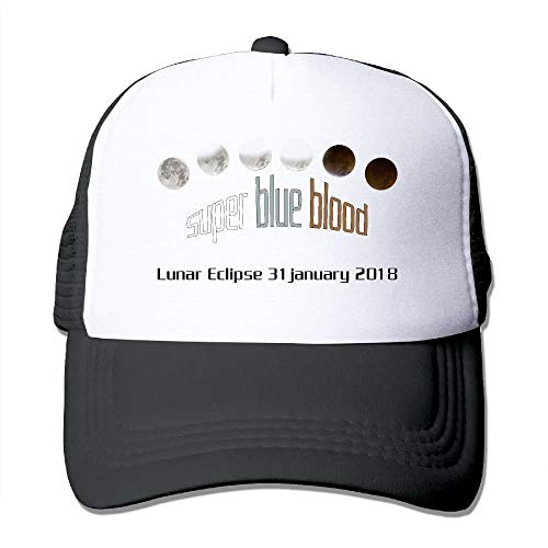 linranshangmao Supermoon Lunar Eclipse Blue Blood Moon 2018 für Herren/Damen Kultmütze Hip Hop Hat -