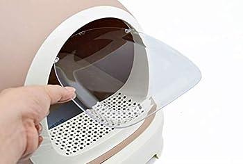 Toilette en Plastique Auto-Nettoyante pour Animaux De Compagnie avec Désodorisant Fermé, Bac À Toilette/Bac À Litière pour Chat, Bac À Litière,Brown