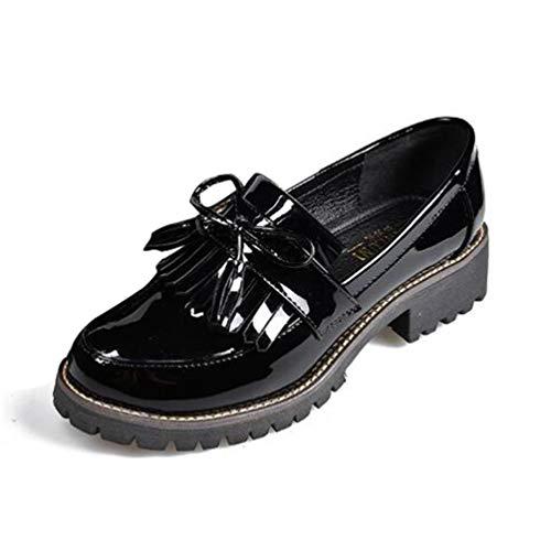 Zapatos Charol Borla Las Mujeres Punta Redonda