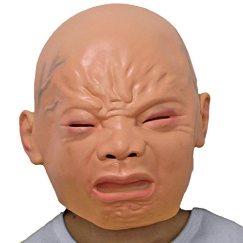 WAWEN Neue Halloween-Maske, weinendes Kind Ausdruck Maske, Rollenspiel, Drama Requisiten, Film Requisiten, Street Spoof, Kostümparty. fleischfarbe (Billig Film Requisiten)