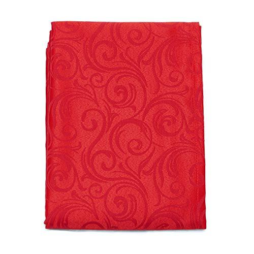 Bgeurope lusso rosso tovaglia-trattamento anti macchia, grandi dimensioni-ref. lyon, poliestere, red, 6 napkins 18 x 18 (45 x 45cm)