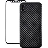 CoBlue 2-in-1 Back and Front Protective Case Cover for iPhone X - Black