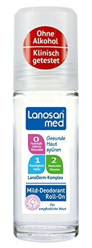 Lanosan med Deo Roll-On, 6er Pack (6 x 50 ml) (Alkoholfreie Deodorant)
