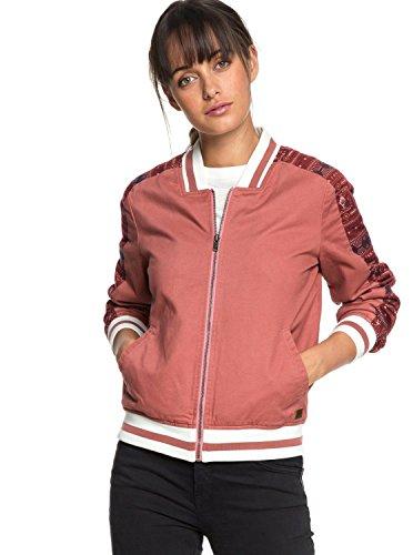 Roxy Free and Wild - Bomber Jacket for Women - Bomberjacke - Frauen - L - Rosa