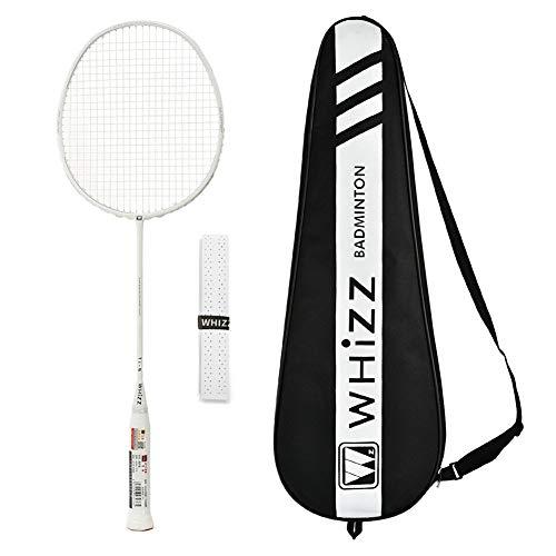 Whizz Hochmodul-Graphit Profi Badminton Schläger Racket 80g 26lbs (Ti-N Weiß)