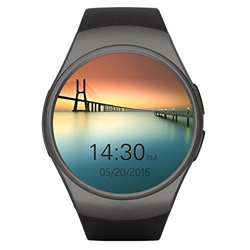 Ballylelly-Goldene/Schwarze/weiße entfernte Nehmen Sie Bild 240 * 240 Pixel Bluetooth Intelligente Uhr-Telefon King-Wear KW18 SIM u. TF-Karte Herzfrequenz Smartwatch -