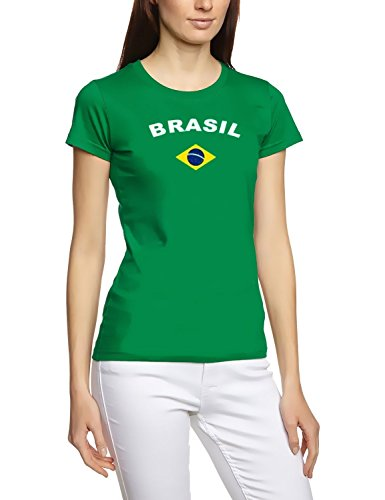 Brasilien T-Shirt girly grün, Gr.M