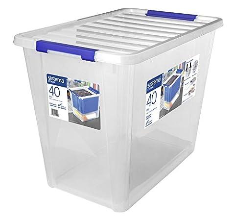 Sistema Storage Large Polypropylene Container, Plastic, Transparent, 40