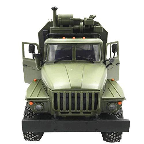 RC Toys RC Autos Ferngesteuertes Fahrzeug, WPL Ural 1:16 Sechs-Laufwerk Military Truck Command Kommunikation Fahrzeug Full Scale Simulation Klettern Auto Ferngesteuerte Militär LKW - Auto 15 1 Rc Scale