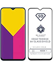 CEDO Full Glue Coverage Edge to Edge Tempered Glass Screen Protector for Samsung Galaxy M20 (Black)