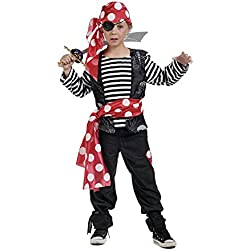 Disfraz de pirata marinero para niño, varias tallas.