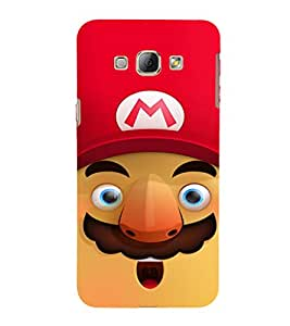 EPICCASE Mario Cartoon Face Mobile Back Case Cover For Samsung Galaxy A8 (Designer Case)