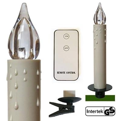 30 LED Kerzen für Weihnachtsbaum Christbaumkerzen groß 14 cm kabellos mit Fernbedienung + Batterien von Gartenpirat® von J. Sedlmayr GmbH - Lampenhans.de