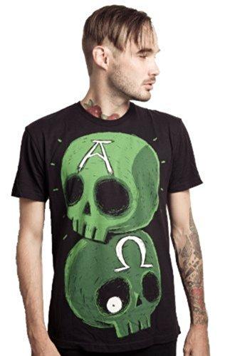 Akumu Ink - Rockabilly Herren T-Shirt Alpha & Omega (schwarz) (S-XL) (S)