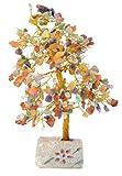Piquaboo árbol del Dinero Grande con Gemas y Cristales de Feng Shui 25 cm