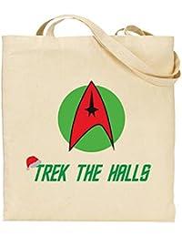 Trek The Halls - Star Trek - Christmas - Deck The Halls - Tote Bag - Shopping Bag - Reusable Bag - Bag For Life - Beach Bag - Totes - Funky NE Ltd®