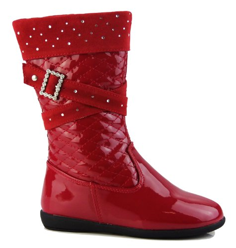 Footwear Studio , Escarpins pour fille Bottes Rouge Diamante