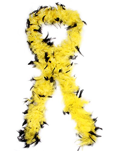 Trendmaus Schöne Federboa Federschal Federstola alle Farben, Farbe wählen:schw. gelb BOA-09