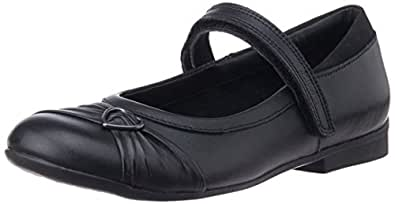 Clarks Girl's Dolly Heart Black Leather Formal Shoes - 10 UK