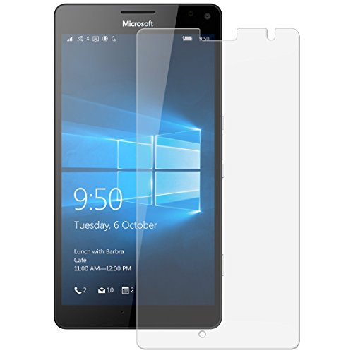 Snoogg Full Body Tempered Glass Screen Protector [ Full Body Edge to Edge ] [ Anti Scratch ] [ 2.5D Round Edge] [HD View] For Nokia Lumia 950 XL  available at amazon for Rs.165