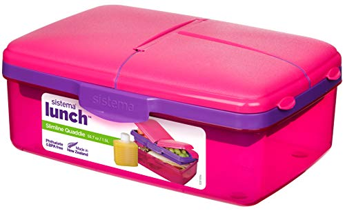 Sistema 962 Lunchbox Quaddie, 1,5 L und Trinkflasche, rosa