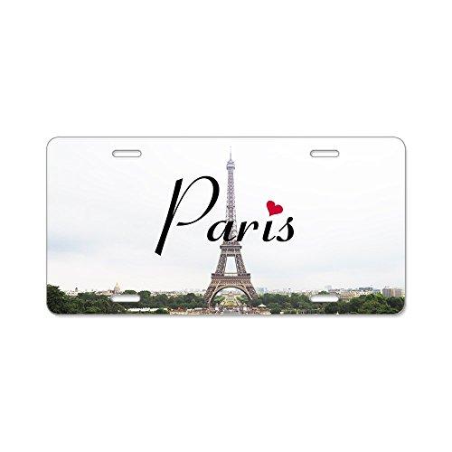 CafePress–Paris–Aluminium Nummernschild, vorne Nummernschild, Vanity Tag (Usa Kennzeichen License Plate Frame)