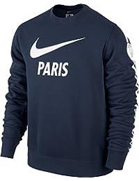 Nike pull pour homme club pSG paris saint-germain à manches longues et encolure ras du cou