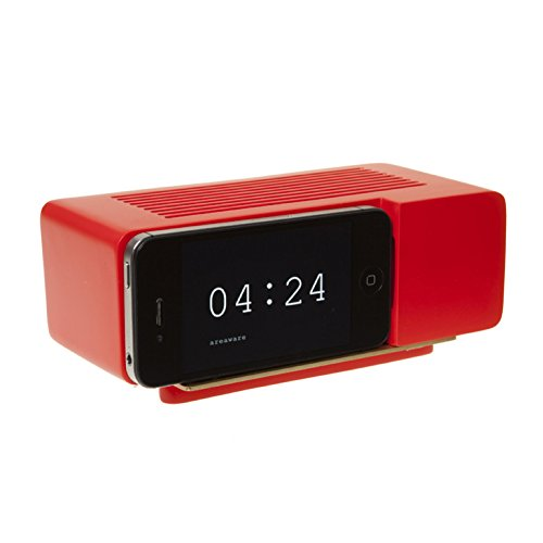 Alarm Dock (Areaware Alarm Dock Docking Station iPhone 4 / 4S rot)