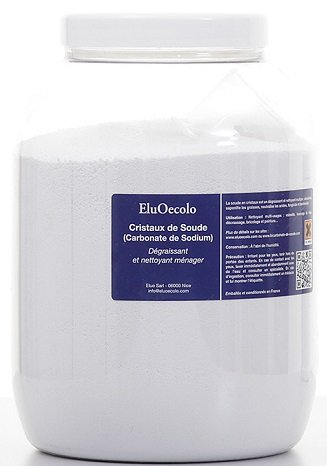 Cristaux de Soude boite hermétique 3kg avec doseur à l'intérieur - EluOecolo Made in France