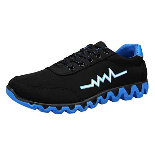 CUTUDE Laufschuhe Herren Damen Sneaker Atmungsaktiv Sportschuhe Turnschuhe Männer Leichtgewichts Fitness Schuhe Straßenlaufschuhe Outdoor (Blau, 41 EU)