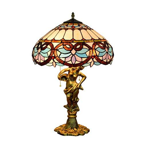 W&HH Vintage Tiffany Barock europäischen Stil Glasmalerei Beleuchtung Wohnzimmer Schlafzimmer...