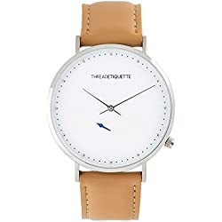 Thread Etiquette Chrono Watch Silver Tone/Light Tan 269
