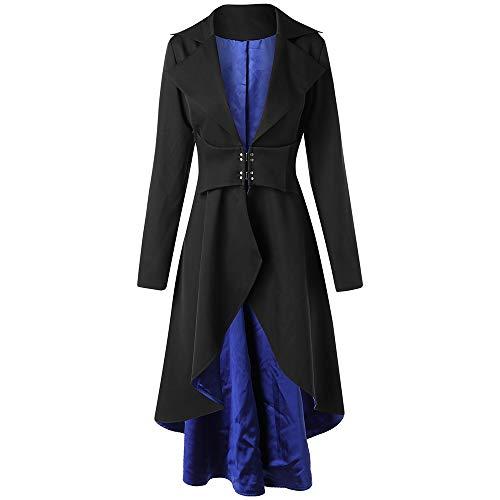 Rosegal Womens Black Frackjacke Gothic Steampunk Victorian VTG Halloween Kostüm Langer Mantel (M, ()