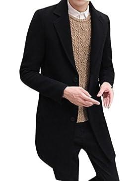 OverDose abrigos hombre invierno sobretodo formal de solo pecho Mezcla de