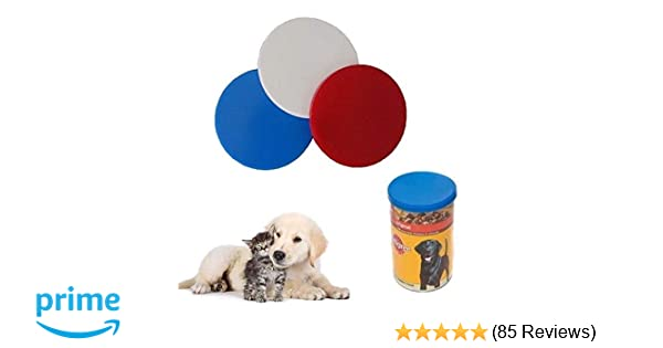 6 Can Covers FITS STANDARD SIZE CANS PLASTIC LID CAT DOG PET 6 X NEW Chef Aid