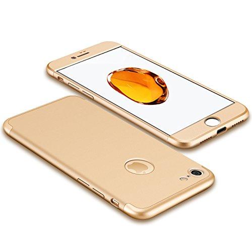 Luxus-dünner 3 in 1 Hybrid-Rüstung Hard Case für Apple iPhone 6 plus / 6s plus voller Körper 360 Grad-Schutz-rückseitige Abdeckungs-Fall Golden (Fällen 6 Hybrid-rüstung Iphone)
