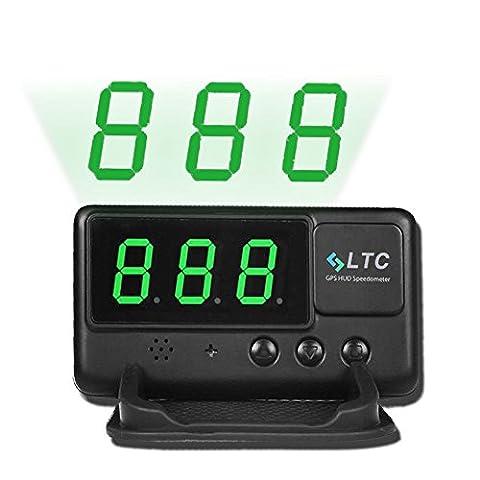 Universel Voiture HUD Head Up Display OBD / GPS Affichage Tête Haute Interface Plug Play Compteur de Vitesse KM/h MPH Avertissement de