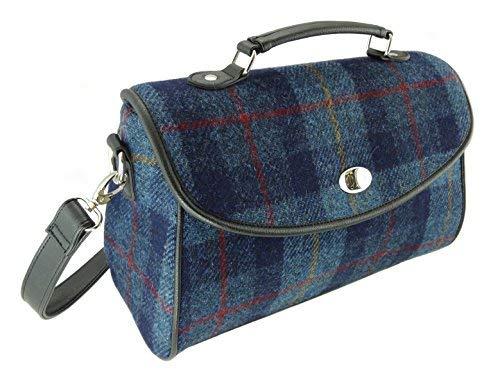 Harris Tweed , Damen Satchel-Tasche blau COL 14