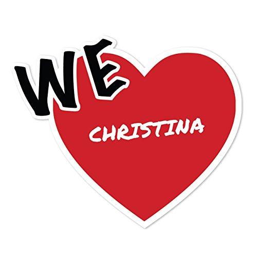 JOllify Aufkleber - CHRISTINA – Farbe: Design: We love - Wir lieben (Christina Farbe)