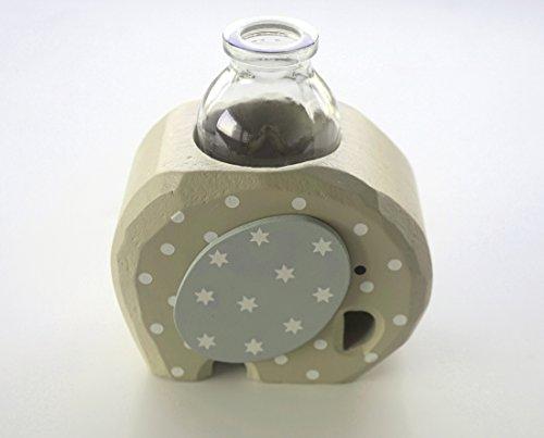 FINIA Elefanten Vase aus Holz mit Glas, handmade