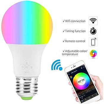 compatibile con Google e ALEXA assistente WANGLAI WiFi intelligente lampadina non richiede Hub sveglia luci dimmerabile,