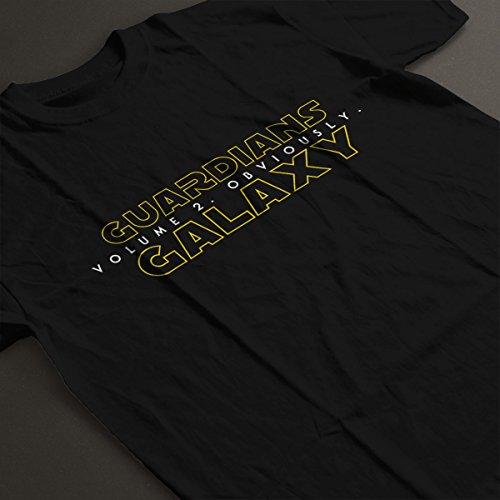 Guardians Of The Galaxy Volume 2 Star Wars Women's T-Shirt Black
