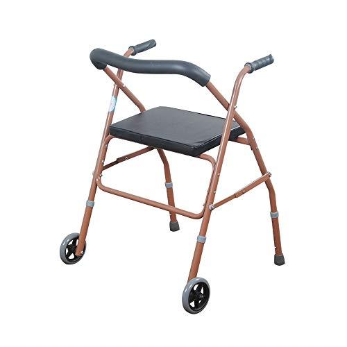 Andadores Chunlan Caminante Anciano Walker con Asiento Plegable Ajustable En Altura Incómodo...