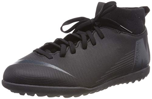 Nike JR SUPERFLYX 6 Club TF, Scarpe da Calcetto Indoor Unisex-Bambini, Nero Black 001, 33 EU