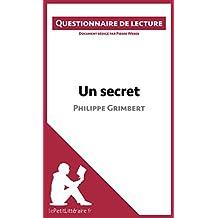 Un secret de Philippe Grimbert: Questionnaire de lecture (French Edition)