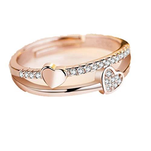 Schönheit hohl Paw Print Liebe Herz Ring offen verstellbaren Ring Haustier Tier Schmuck YunYoud Diamant Schmuck Geschenk Ringe YunYoud vergoldete stahlringe